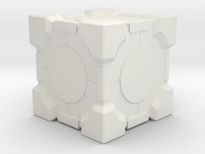 Upvote Cube in White Natural Versatile Plastic
