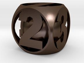 Sane Dice in Polished Bronze Steel
