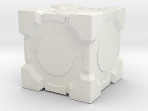 Favorite Cube in White Natural Versatile Plastic