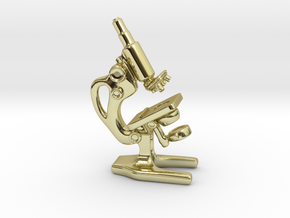 Microscope Pendant in 18k Gold Plated Brass