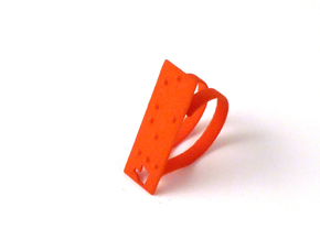 Adjustable ring. Like in Braille. in Orange Processed Versatile Plastic