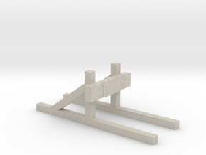 Buffer stop (HO scale) in Natural Sandstone