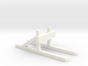Buffer stop (HO scale) in White Processed Versatile Plastic