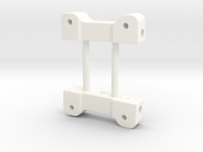 NIX91-041 Rear arm mounts in White Processed Versatile Plastic