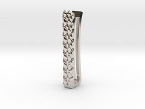 Dragon Scale Tie-bar in Platinum