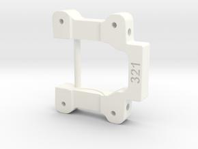 NIX91-321 (3.0* toe-in, 1* anti-squat) in White Processed Versatile Plastic