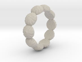 Urchin Ring 1 - US-Size 7 1/2 (17.35 mm) in Natural Sandstone
