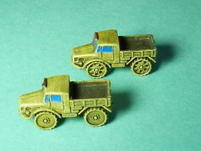Radschlepper Ost solid wheels 1/285 6mm 5pcs. in Smooth Fine Detail Plastic