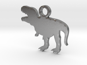T-Rex Necklace Charm ($4.99 and up) in Natural Silver