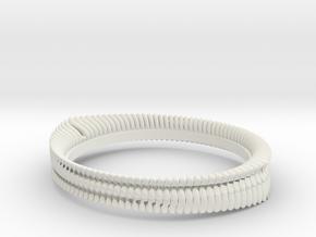 Tooth ring(Japan 10,USA 5.5,Britain K)  in White Natural Versatile Plastic