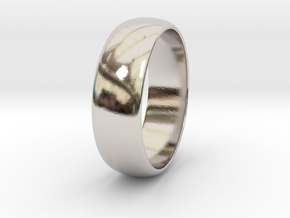Hugo - Ring in Rhodium Plated Brass: 7.75 / 55.875