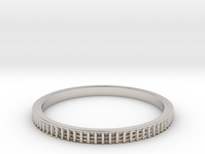 Bearing ring(Japan 20,USA 9.5~10,Britain S~T)  in Rhodium Plated Brass
