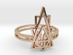 Viridiana Ring in 14k Rose Gold Plated Brass: 6 / 51.5