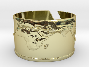 Round The World Bracelet in 18k Gold Plated Brass