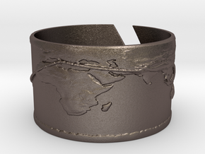 Round The World Bracelet in Polished Bronzed Silver Steel