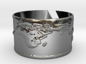Round The World Bracelet in Polished Silver