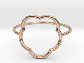 Inner flower ring - size 6 US in 14k Rose Gold Plated Brass