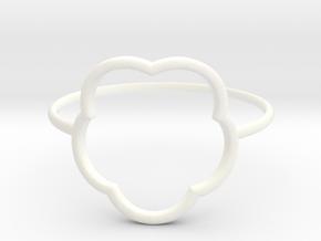 Inner flower ring - size 6 US in White Processed Versatile Plastic