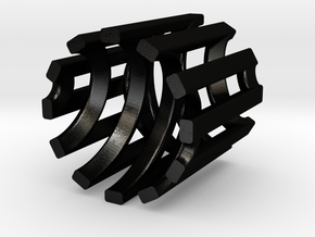Eggcup-12-5 in Matte Black Steel