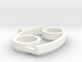 Karkat Pendant in White Processed Versatile Plastic