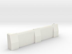 "5"" Ballistic Barrier in White Natural Versatile Plastic"