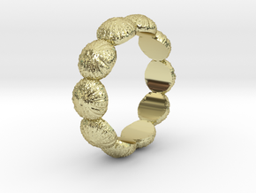 Urchin Ring 1 - US-Size 11 (20.68 mm) in 18k Gold Plated Brass