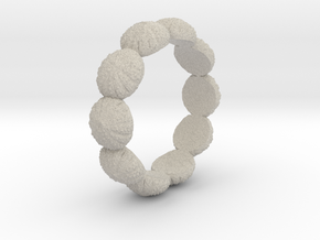 Urchin Ring 1 - US-Size 13 (22.33 mm) in Natural Sandstone