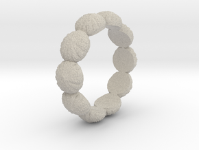 Urchin Ring 1 - US-Size 8 1/2 (18.53 mm) in Natural Sandstone