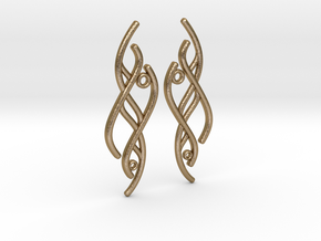 S-Curve Earrings in Polished Gold Steel