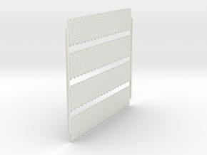 A-nori-bricks-narrow-tall80-sheet-x4-1a in White Natural Versatile Plastic