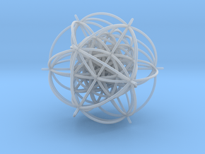 600-Cell, Stereographic projection,Vertex centered in Smooth Fine Detail Plastic