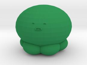 Octopus Phone Charm in Green Processed Versatile Plastic