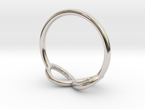 Ring Infinity in Rhodium Plated Brass