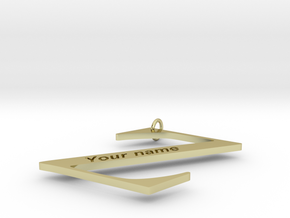 Z (Personalize with your name) in 18k Gold Plated Brass