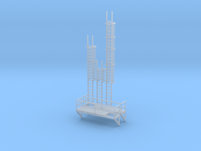 'N Scale' - Ladders For Bulkweigher in Smooth Fine Detail Plastic