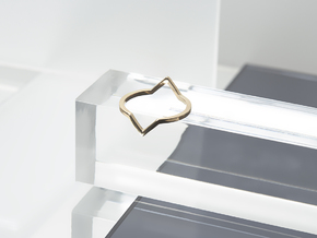 Square Illusion Ring in Polished Bronze: 6 / 51.5