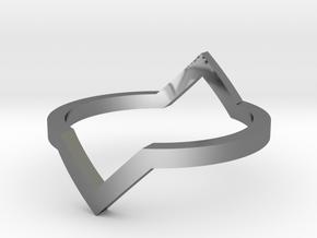 Diamond Illusion Ring in Premium Silver