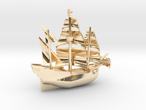 Galleon Small (Nov 1) in 14K Yellow Gold