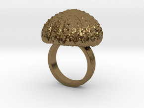 Urchin Statement Ring - US-Size 7 (17.35 mm) in Polished Bronze