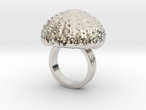 Urchin Statement Ring - US-Size 5 1/2 (16.10 mm) in Rhodium Plated Brass