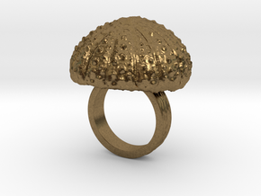 Urchin Statement Ring - US-Size 4 (14.86 mm) in Natural Bronze