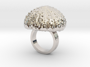 Urchin Statement Ring - US-Size 3 1/2 (14.45 mm) in Rhodium Plated Brass