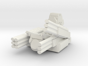 Russian S1 Pantsir Turret 6mm Alternate in White Natural Versatile Plastic