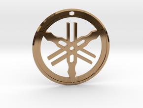 Yamaha Keychain in Polished Brass