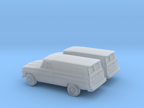 1/160  2X 1966 Chevrolet Panel Van in Frosted Ultra Detail