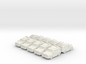 4x4 Cars (10 pcs) in White Strong & Flexible