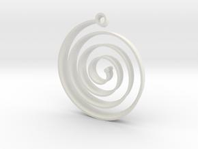 KORU EARRiNG in White Natural Versatile Plastic