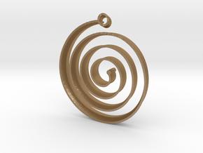 KORU earring in Matte Gold Steel