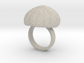 Urchin Statement Ring - US-Size 6 1/2 (16.92 mm) in Natural Sandstone