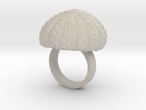 Urchin Statement Ring - US-Size 4 1/2 (15.27 mm) in Natural Sandstone